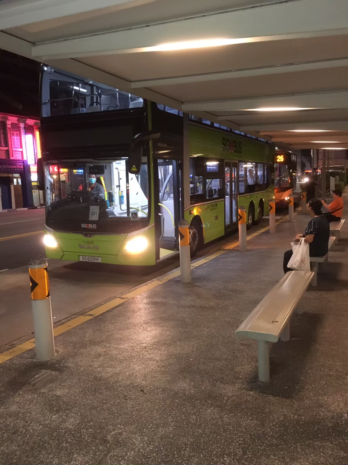 シンガポールのその他の交通手段①:路線バス