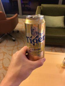 シンガポール料理に合う飲み物②:Tiger Radler(タイガーラドラー)